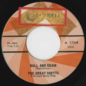 45 great scots ball and chain label