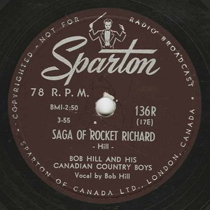 78 bob hill and his canadian country boys saga of maurice richard label