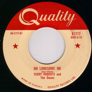 45 terry roberts and the deans oh lonesome me vinyl