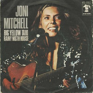 45 joni mitchell big yellow taxi pic sleeve portugal