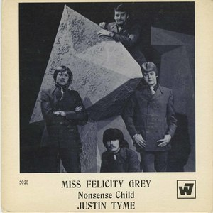 45 justin tyme miss felicity grey pic sleeve front