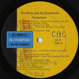 Humphrey and the dumptrucks cbc lm74 9 label
