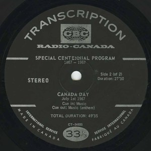 Cbc radio canada day 1967 side 02 english label