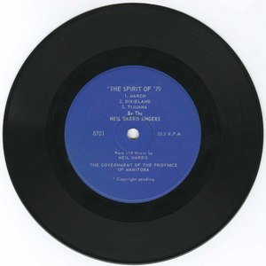 45 neil harris spirit of 1970 %28manitoba theme song%29 vinyl