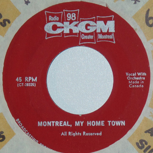Ckgm singers montreal my home town label 01