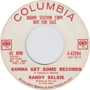 Sandy selsie gonna get some records columbia