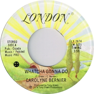 Carolyne bernier whatcha gonna do london