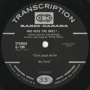 Willie dunn who were the ones %28cbc radio canada e 799%29 side 01 label