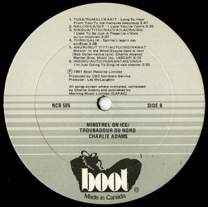 Charlie adams minstrel on ice label 02