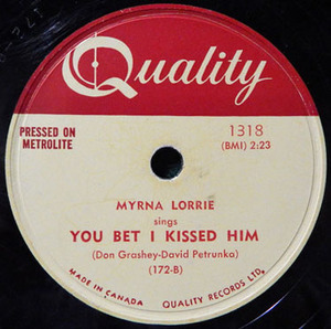 78 myrna lorrie you bet i kissed him squared