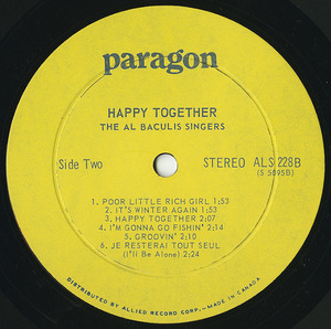 Al baculis singers happy together %28ctl paragon%29 label 02