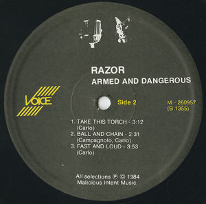 Razor   armed and dangerous label 02