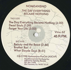Nomeansno the day everything became nothing label 01