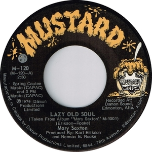 Mary saxton lazy old soul mustard