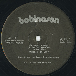 Dwight druick georgy porgy 12'' vinyl side 01