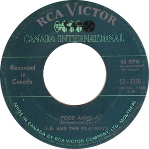 Jb and the playboys poor anne rca victor canada international