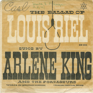 45 arlene king and the portageurs   the ballad of louis riel front