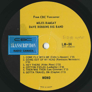Miles ramsay dave robbins big band cbc lm 34 label 01