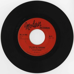 45 jackie shane you are my sunshine modern 45 m1031