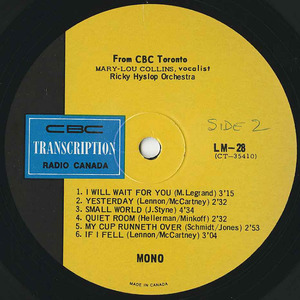 Mary lou collins   ricky hyslop cbc lm 28 label 02